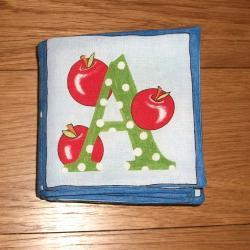 Alphabet blue cloth fabric book and matching blanket