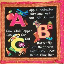 ABC Alphabet Soft Cloth Fabric Book, Blackboard Style