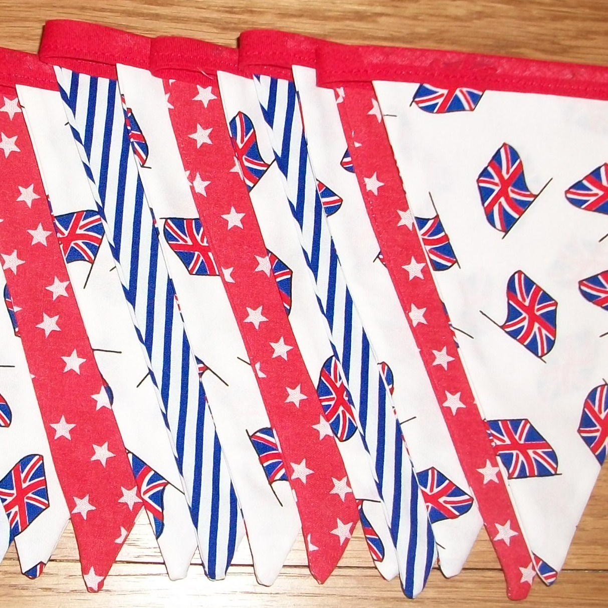 Red white blue  900cm long BUNTING